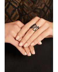 Repossi - White Noise 18-karat Black Gold-washed Diamond Ring - Lyst