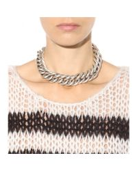 Saint Laurent Metallic Chain Necklace