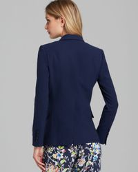 Equipment Blue Blazer Anais Wool