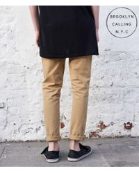 Brooklyn Calling | Natural Color Wash Tapered Skinny Chinos for Men | Lyst