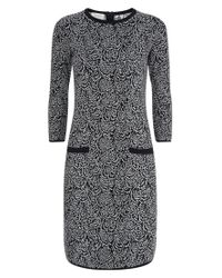 Hobbs Gray Feather Dress