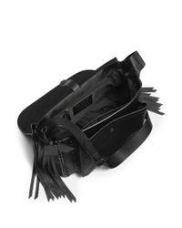 COACH Black X Blitz 'dakotah' Whipstitch Leather Satchel