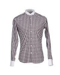 Poggianti - Brown Shirt for Men - Lyst