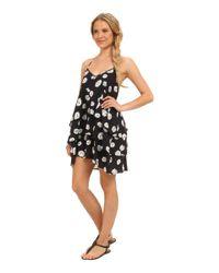 Volcom - Black Ditsy Dress - Lyst