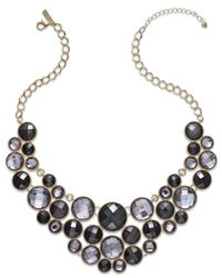 INC International Concepts | Black Inc International Necklace Gold-tone Jet Multi-circle Bib Necklace | Lyst