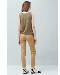 Mango Brown Straight Trousers