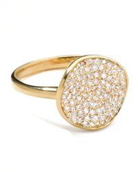 Ippolita | Metallic Stardust Diamond Disc Ring | Lyst