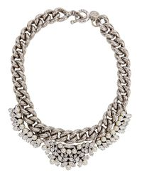 Anton Heunis | Metallic Yesfir Swarovski Silver-plated Necklace | Lyst