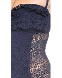 Juicy Couture Blue Prima Donna Ruffle Maillot Angel
