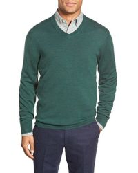 Bonobos | Green Standard Fit Merino Wool V-neck Sweater for Men | Lyst