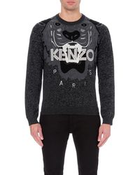KENZO | Gray Tiger Wool Jumper for Men | Lyst