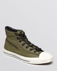 Converse Green Chuck Taylor All Star Zip High Top Sneakers for men
