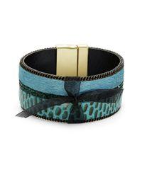 Cara | Blue Snake Print Cuff Bracelet | Lyst