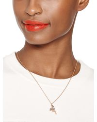 kate spade new york - Pink Bird'S The Word Mini Pendant - Lyst