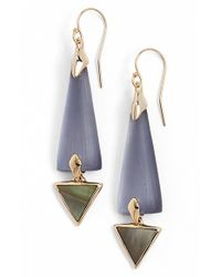 Alexis Bittar - Blue 'lucite' Elongated Drop Earrings - Light Navy - Lyst