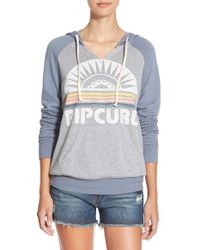 Rip Curl | Blue 'sunray' Pullover Hoodie | Lyst