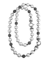 Lagos - Metallic Silver Bold Caviar Beaded Two-part Necklace - Lyst