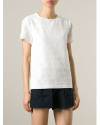 Band of Outsiders - White Lace Top - Lyst