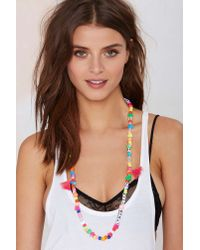 Nasty Gal | Multicolor Word Up Beaded Necklace | Lyst