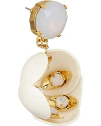 Tory Burch - Metallic Courtlyn Goldplated Moonstone and Resin Earrings - Lyst