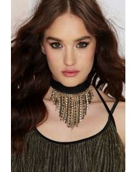Nasty Gal | Metallic More Than Just Fringe Choker | Lyst