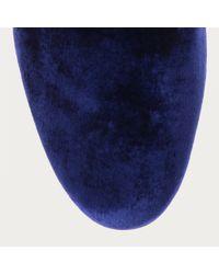 Bally Blue Baluan Men's Velvet Loafer In Marine