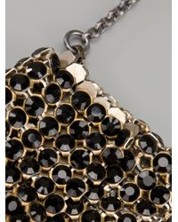Laura B Metallic Chainmail Bag Necklace