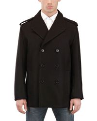 Dior Homme Black Double Breasted Coat for men