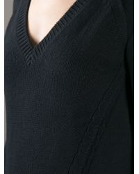 Burberry Brit Black V-neck Sweater