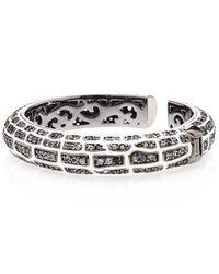 M.c.l | Metallic White Sapphire Pave Crocodile Cuff Bracelet | Lyst