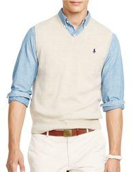 Polo Ralph Lauren | Natural Pima V-neck Vest for Men | Lyst