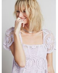 Free People | Purple Jen S Pirate Booty For Womens Pixie Short Sleeved Dress | Lyst