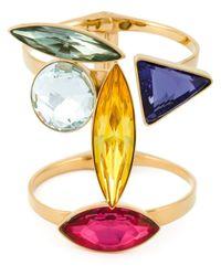 Ca&Lou | Metallic Geometric Glass Cuff | Lyst