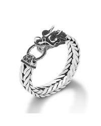 John Hardy - Black Dragon Head Bracelet On Extra-Large Rectangular Chain for Men - Lyst