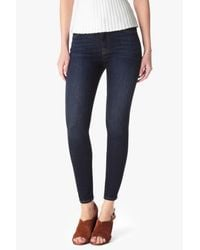 7 For All Mankind Slim Illusion Mid Rise Ankle Skinny In Tried & True Blue