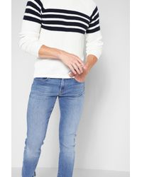 7 For All Mankind Blue Airweft Denim The Paxtyn In Amalfi Coast for men