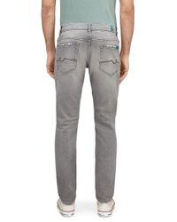 7 For All Mankind Gray Ronnie Special Edition Fearless Hunter Light Grey for men