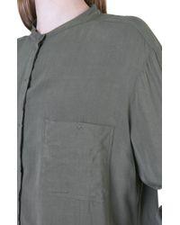 7 For All Mankind - Green Boyfriend Shirt Military - Lyst