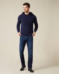 7 For All Mankind Hoodie Cashmere Night Blue for men