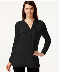 Robert Rodriguez | Black Long-sleeve Blouse | Lyst