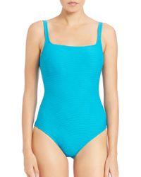 Gottex - Blue One-piece Tank Swimsuit - Lyst