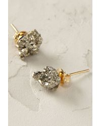 Anthropologie | Metallic Crystalline Post Earrings | Lyst