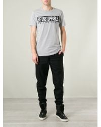 Philipp Plein Gray 'shine On' T-shirt for men