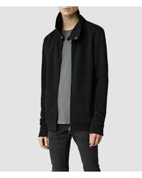 AllSaints | Black Mevens Funnel Neck Sweatshirt for Men | Lyst