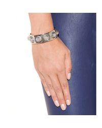 Balenciaga - White Studded Metallic Cuff - Lyst