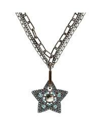 Lanvin - Metallic Elsie Pendant Necklace - Lyst
