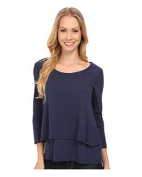 Mod-o-doc - Blue Supreme Jersey Double Tier Top - Lyst
