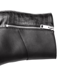H&M Black Boots With A Wedge Heel