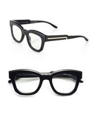 Stella McCartney - Black Square 50Mm Optical Glasses - Lyst