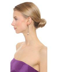Rodarte - Metallic Hook Drop Earrings - Copper/Nickel/Pearl - Lyst